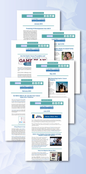 gastric cancer foundation newsletter archive