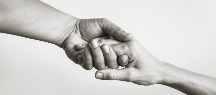 holding hands support